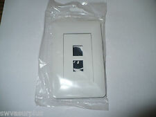 OnQ 364301-01 2-Port Designer Outlet Wall Plate, White, New