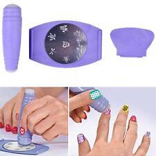 Fashion Professional Art Stamp Stamping Polish Nail DIY Design Kit Decoration CA