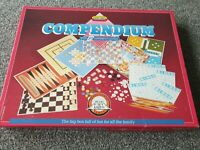 Vintage Compendium Board Games By Spears Games 12 Games Inside Chess Bingo Fun