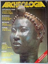 Archeologia n°192 du 7/1984; Numéro Double; Bordeaux, Bretagne, Foissac, Egypte