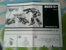 Transformers ANIMATED OPTIMUS PRIME VS.  MEGATRON INSTRUCTION BOOKLET
