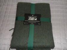 NEW Alpaca Wool Fringed Throw Blanket Green Tones Soft & Warm NWT