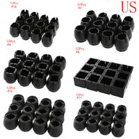 12x Round Rubber Table Chair Leg End Caps Feet Covers Tips for Home Office Patio