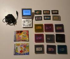 Nintendo Game Boy Advance SP Tribal Limited Edition Silber + 15 Spiele