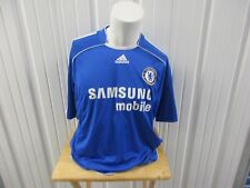 VINTAGE ADIDAS CHELSEA F.C. SEWN XL CLIMACOOL JERSEY BLUE/WHITE PRE OWNED