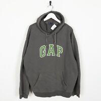 Vintage GAP Big Logo Spell Out Hoodie Sweatshirt Grey | Large L