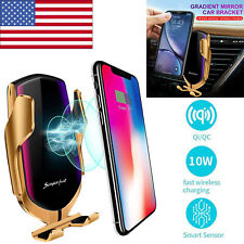 Automatic Clamping Smart Sensor Car Air Vent Phone Wireless Charger Holder Dock