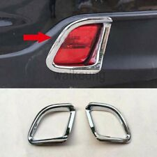 Chrome Rear Fog Light Lamp Cover Trim For 2014 2015 2016 2017 Toyota Highlander