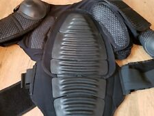 BLACK MOTOCROSS OFF ROAD BODY ARMOUR BLACK SIZE XL EXTRA LARGE ADULT SPINE BACK