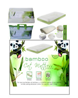 Soft Mattress Bamboo Cot Bed Breathable Cover Foam Mattress Baby Toddler Pillows