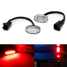 Clear Lens 12-SMD Red LED Rear Bumper Tailgate Sidemarker Lights For Ford Raptor