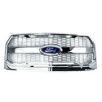 Raptor Convert Chrome Mesh Grille w/Emblem Housing+White LED for 15-17 Ford F150