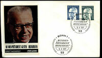West Germany 1971, 50pf, 80pf President Heinemann FDC First Day Cover #C35665