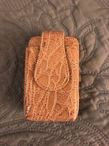 """TAN LIFESTYLE """"ELITE"""" WALLET CELL PHONE HOLDER, w metal strap by Metropolitan"""