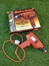 Vintage Negro & Decker Taladro con cable de F101/H1G 240 V S8B26
