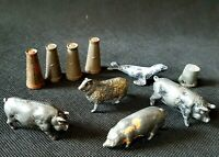 Vintage 1930s-1940s Britains Jo Hill Co Lead Animals Urns Figures Mixed Job Lot