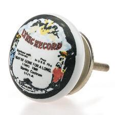 1x SD-102 Möbelknöpfe Möbelgriffe Möbelknopf Keramik Vintage Shabby  bunt