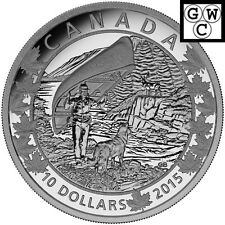 2015 Wondrous West-Canoe Across Canada Proof $10 Silver Coin .9999 Fine(16960)NT