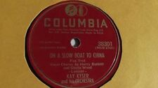 Kay Kyser - 78rpm single 10-inch Columbia #38301 On A Slow Boat To China