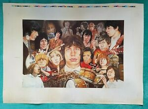 The Rolling Stones ltd edit Peter Goodhall poster stone ages artist proof ? RARE