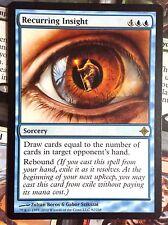 MTG 1x RECURRING INSIGHT - M/NM - RISE OF THE ELDRAZI Rare Card Draw Sorcery