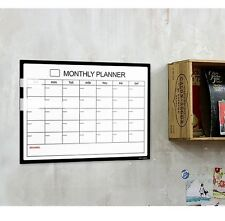 Sticky Adhesive Easy-Detachable White Board Monthly Schedule Board Marker Pen
