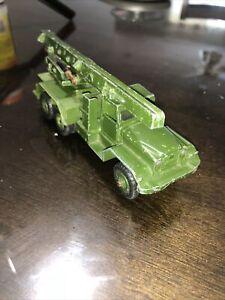 Vintage Dinky Super Toys Military Honest John Rocket Launcher Spring Works!