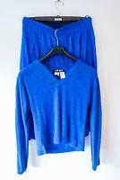 Vintage Designer *Jean Muir* 2 Piece in Blue. Top + Mid Palazzo Pants- 12 UK