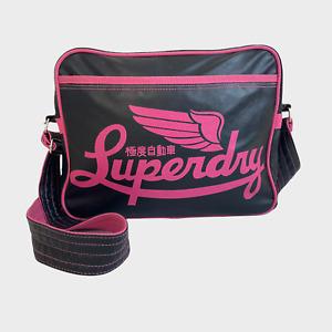 GENUINE Ladies Womens Bag Large Black Pink Shoulder Messenger Crossbody Handbag