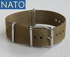 "BRACELET MONTRE NATO 20mm (vert kaki ""Baroud"") military hunting outdoor watch"