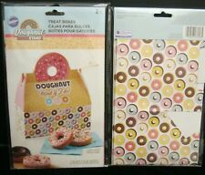 LOT OF 2 PACKAGES TOTAL OF 4 WILTON TREAT BOXES DOUGHNUT STAND #415-8058  NEW!