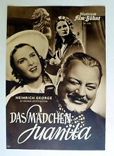 IFB #1543 - MÄDCHEN JUANITA * HEINRICH GEORGE - FILMPROGRAMM MOVIE-PROGRAM