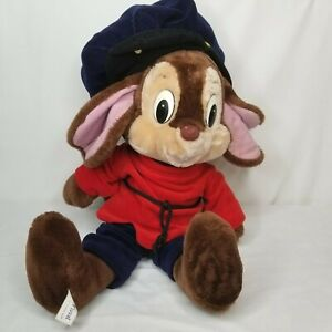 """Fievel Plush Mouse An American Tail Large 24"""" Stuffed Toy AS IS 1986 Sears 80s"""