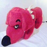 Vintage Red Plush Puppy Dog Knickerbocker Toy Co RARE Stuffed Animal Hound