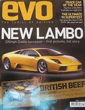 EVO 10/2001 Issue 36 featuring Lamborghini, TVR, Morgan Aero 8, Jensen, Porsche