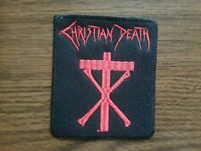 CHRISTIAN DEATH,SEW ON RED EMBROIDERED PATCH
