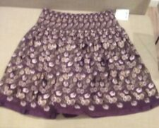 max edition skirt floral maroon purple sz m new/tags knee lengh 100% polyester