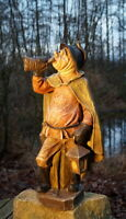 wunderschöne große Achatit Figur Nachtwächter 53 cm exklusive Künstlerarbeit