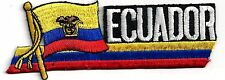 ECUADOR - FLAG - LARGE - IRON or SEW-ON PATCH
