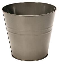 Large Galvanised Metal Plant Pot Bucket Outdoor Garden Flower Herb Planter #new