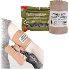 Emergency Trauma Dressing, 4 inch, FLAT, Military IFAK Kit Dressing, Tactical