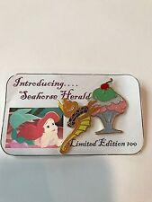 The Little Mermaid Ariel Seahorse Herald Ice Cream PTD Disney Fantasy Pin LE 100