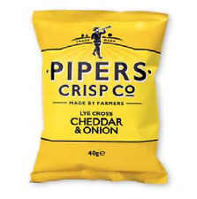 Pipers Crisps Lye Cross Cheddar & Onion 3 Case sizes available