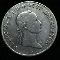 1831 A AUSTRIA FRANCIS I 20 KREUZER - LARGE SILVER COIN 26mm - GREAT COIN