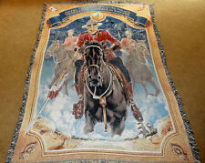 Royal Canadian Mounted Police Tapestry Afghan Throw