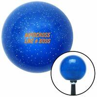 Orange Autocross Blue Metal Flake Shift Knob w/ M16x1.5 Insert Shifter Auto