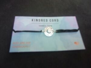 Alex and Ani Silver Cosmic Love Charm Black Kindred Cord Bracelet NWT