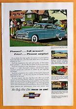 Magazine  Print Ad 1952 Chevrolet De Luxe Sport Coupe - Golfing
