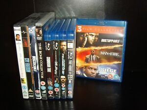 Denzel Washington 11 Blu-Ray DVD Collection - Crimson Tide to Unstoppable