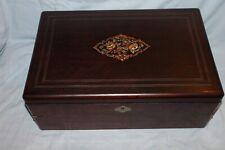Un grand écritoire en placage de Mahony sous forme de boite